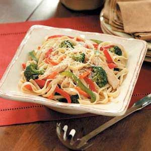Colorful Chicken Fettuccine Recipe
