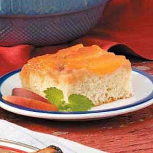 Fresh Peach Upside-Down Cake Recipe