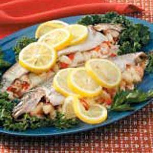 Seafood-Stuffed Rainbow Trout Recipe