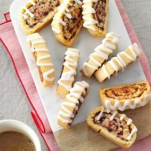 Cranberry Swirl Biscotti Recipe