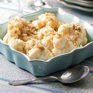Cauliflower with Buttered Crumbs Recipe