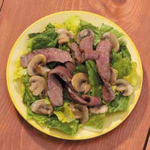 Grilled Steak and Mushroom Salad Recipe