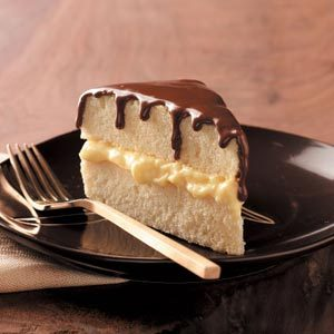 Lighter Boston Cream Pie Recipe