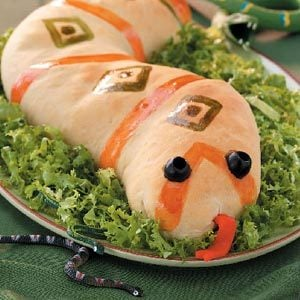 Sausage-Stuffed Slithery  Snakes