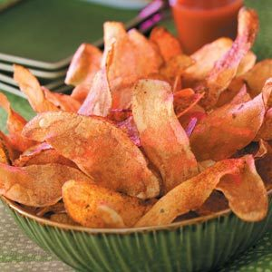 Fiery Potato Chips Recipe