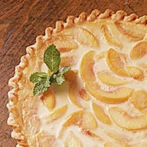 Easy Peach Cream Pie Recipe