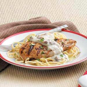Grilled Chicken with Cream Sauce Recipe