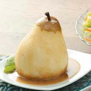 Pears with Cinnamon Sauce Recipe