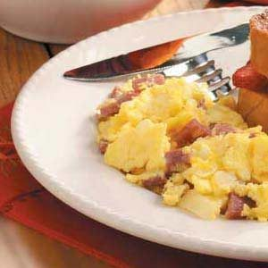 Salami Scrambled Eggs Recipe
