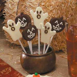 Halloween Chocolate Lollipops Recipe