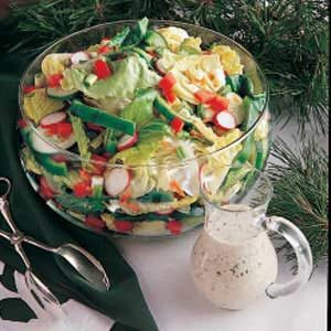Green Salad with Dill Dressing Recipe
