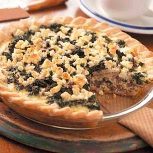 Spinach Venison Quiche Recipe