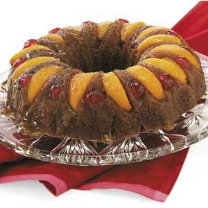 Ginger Peach Upside-Down Cake Recipe