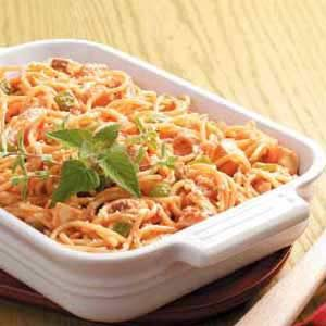 Spaghetti Chicken Bake Recipe