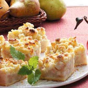 Old-Fashioned Pear Dessert Recipe photo by Taste of Home