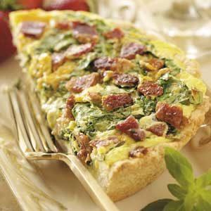 Spinach Brunch Pizza Recipe