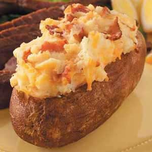 Cheddar Twice-Baked Potatoes Recipe