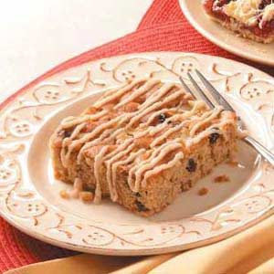 Iced Apple Snack Cake