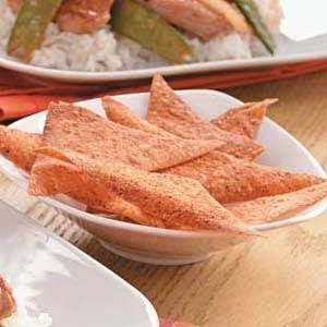 Savory Wonton Chips Recipe