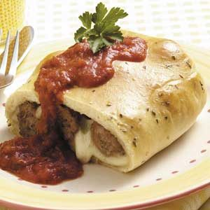 Meatball Calzones Recipe