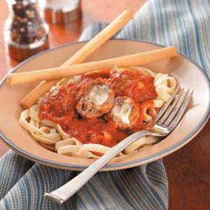 Mozzarella-Stuffed Meatballs Recipe
