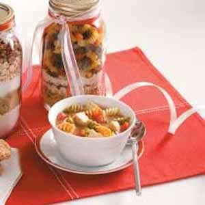 Hearty Pasta Soup Mix Recipe