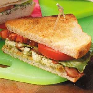 BLTs with Raisin-Avocado Spread Recipe