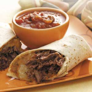 Brisket 'n' Bean Burritos Recipe