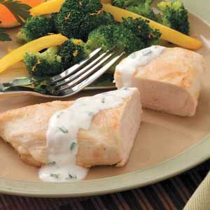 Chicken with Leek Sauce Recipe