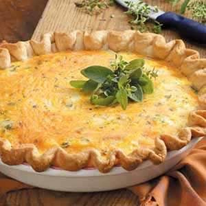 Sage Onion Quiche Recipe