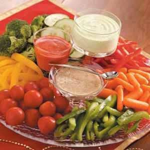Three-Pepper Veggie Tray Recipe