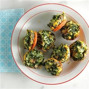 Mini Spinach Frittatas Recipe