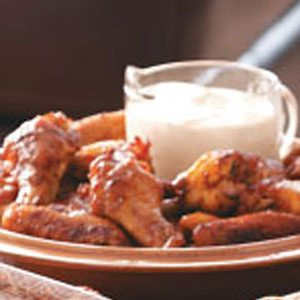 Spicy Chicken Wings with Blue Cheese Dip Recipe