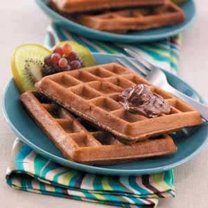 Pecan Chocolate Waffles Recipe photo by Taste of Home