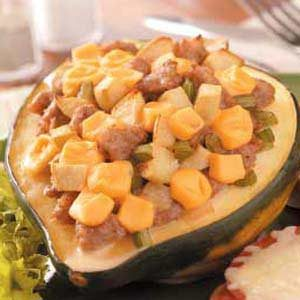 Apple Sausage-Stuffed Squash Recipe