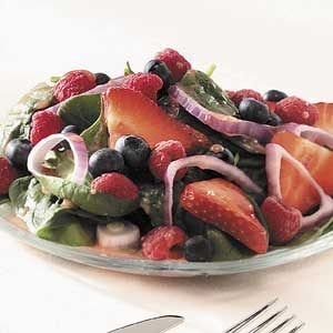 Triple-Berry Spinach Salad Recipe