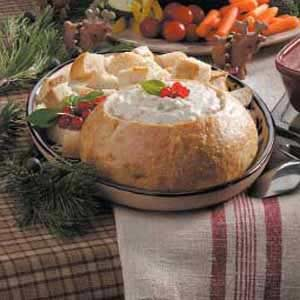 Clam Fondue in a Bread Bowl Recipe