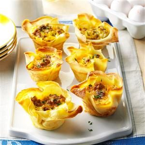 Crepe Quiche Cups Recipe