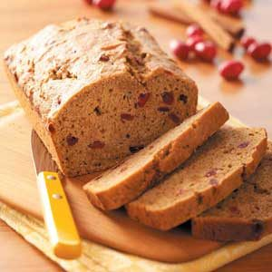 Cranberry Sweet Potato Bread Recipe