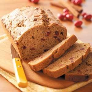 Cranberry Sweet Potato Bread Recipe