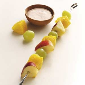 Fruit Skewers with Ginger Dip Recipe