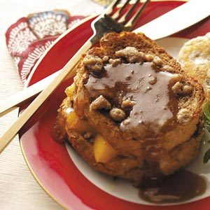 Peach-Stuffed French Toast Recipe