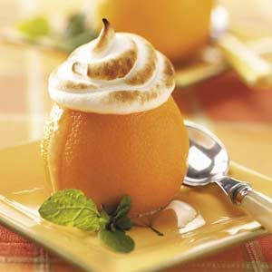 Meringue-Topped Sherbet Oranges Recipe