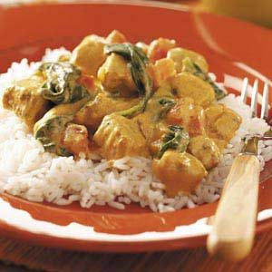 Creamy Curried Chicken Recipe