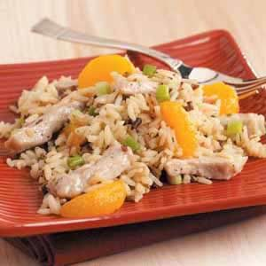 Mandarin Pork and Wild Rice Recipe