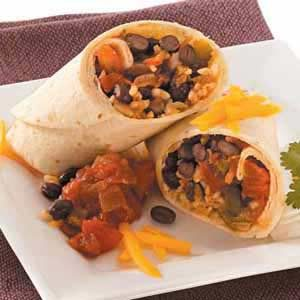 Quick Bean and Rice Burritos Recipe