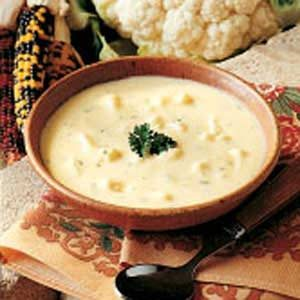 Cauliflower Cheddar Soup Recipe