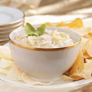 Makeover Creamy Artichoke Dip Recipe photo by Taste of Home