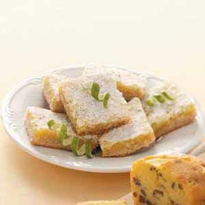 Macadamia-Coconut Lime Bars Recipe
