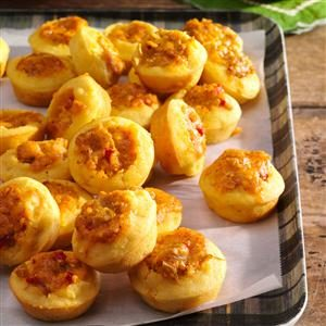 Mini Corn Muffins with Spicy Cheddar Filling Recipe